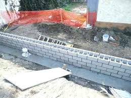 cinder block retaining wall cost cinder block wall costs cost of concrete block wall retaining walls