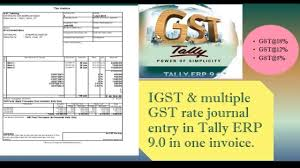 Igst Rate Chart Igst Multiple Gst Rate Journal Entry In One Bill Tally Erp 9 0