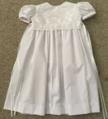 ALLIE WADE NEW White Baby Christening/ Wedding Floral Dress Sz. NB | eBay