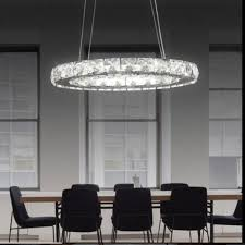 new led crystal ceiling lights oval ring pendant