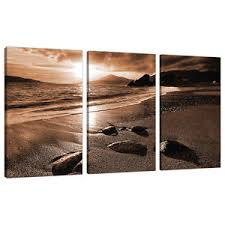 image is loading 3 part brown sepia canvas pictures wall art  on sepia canvas wall art with 3 part brown sepia canvas pictures wall art living room prints 3076