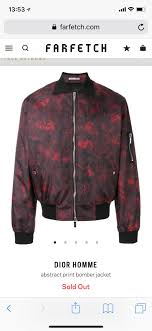 w2c w2c dior homme abstract print er jacket