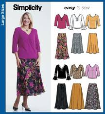 Plus Size Skirt Patterns Enchanting Simplicity 48 Plus Size Skirt And Knit Tops