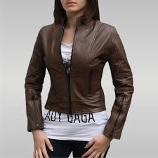 dark angel women s leather jacket brown