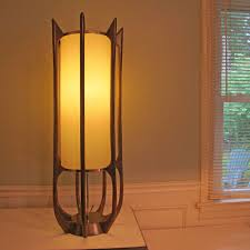 mid century modern lamp danish modeline teak brass floor sold on