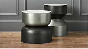 metal drum table. Silo Metal Drum Side Table CB2 For Ideas 2