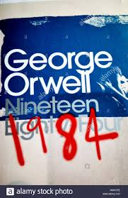 a copy of the clic novel 1984 by george orwell stock image