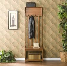 Hall Coat Rack With Storage Furniture Solid Wood Entryway Bench With Coat Rack And Shoe Storage 68