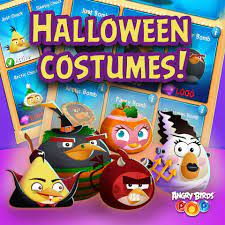 """Red the Angry Bird ar Twitter: """"Time to collect all those Halloween  costumes! Matilda as a bride of Frankenstein, Bomb as a witch, Stella as a  pumpkin, Chuck as Dracula and Red"""