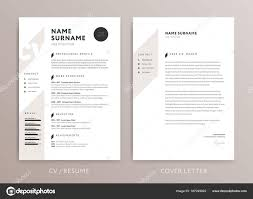 Stylish Cv Design Curriculum Vitae Cover Letter Template Ros