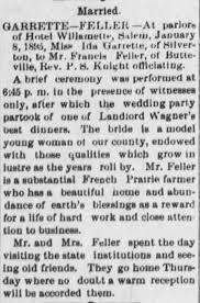 Francis Feller & Ida Garrett wedding - Newspapers.com