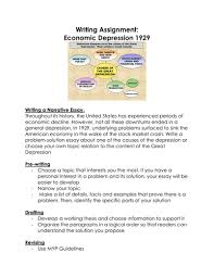 great depression s writing assignment economic depression great depression 1920s writing assignment economic depression 1929 by linni0011 teaching resources tes