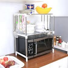 kitchen organizer rack adjule multi function 2 layers home microwave shelves organizer storage rack kitchen cabinet