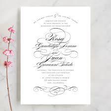 Wedding Invitatiins Formal Ink Wedding Invitations By Jill Means Minted