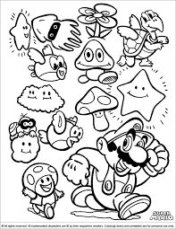 Small Picture Mario Bros 14 Video Games Printable coloring pages