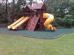 green mulch playground