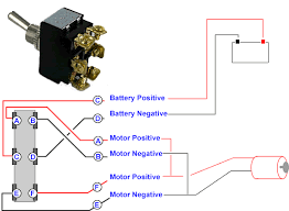 three way switch reverse polarity wiring diagram schematics connecting a 6 terminal toggle switch to a 12volt dc motor or dc