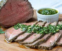 top round roast beef with chimichurri