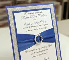 stunning royal blue silver glitter wedding invitation full of bling sparkle and dazzle stunning royal blue & silver glitter wedding invitation full of on dazzle wedding invitations