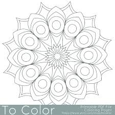 Small Picture Printable Circular Mandala Easy Coloring Pages for Adults Big