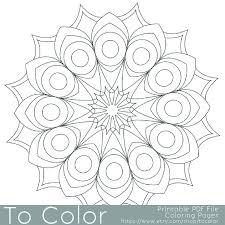 Printable Circular Mandala Easy Coloring Pages