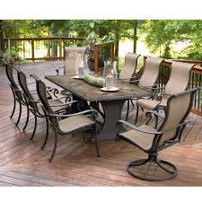 Sears Furniture Kitchen Tables Agio International Panorama 9 Pc Patio Dining Set Sears