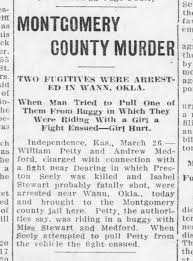 Petty and Medford apprehended in Preston Seely murder. 26 Mar 1914. Chanute  Daily Tribune (KS) - Newspapers.com