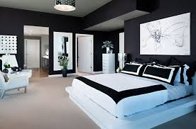 modern bedroom black. Modern Black White Bedroom Interior Design Photographer Zack