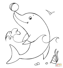 Impressive Dolphin Coloring Pages Dolphins Free Valence Dolphin