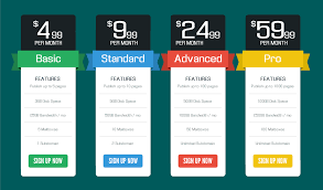 Pricing Table Templates The Best Pricing Table Design Inspirations Youzign Blog
