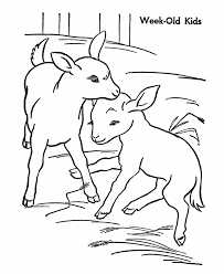 Small Picture Farm animal coloring page Goat Goat Kids Kids Farm crafts