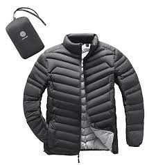 Lapasa Mens Packable Down Jacket Water Resistant With Zipper Pockets Lightweight Winter Outerwear Duck Down Filled M32