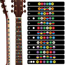 Electric Guitar Note Chart Details About 5pcs New Electric Acoustic Guitar Chord Chart Note Sticker For Beginner Practice