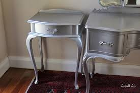 silver painted furniture. Lilyfield Life: Tips On Using Metallic Paint And A Silver Painted Dressing Table Set Furniture E