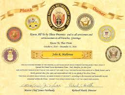 Brilliant Ideas Of Plank Holder Certificate With Plank Owner