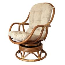 swivel and rocking chairs. Swivel Rocking Chair Erick Color Light Brown With Cushion. Handmade Eco-Friendly Materials Rattan Wicker Home Furniture - And Chairs W