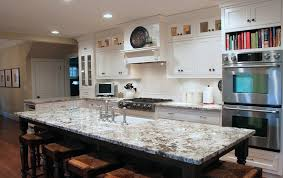 White Kitchen With Granite Delicatus White Granite