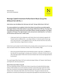 Billboard Hit Chart 2012 Nouvago Capital Investment Perfect Storm Music Group Hits