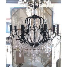 large black chandelier 8 lights