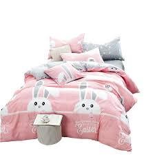 kid duvet covers pink girls bedding set rabbit cartoon quilt cover kids duvet cover set cotton