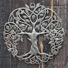 celtic inspired tree of life metal wall art