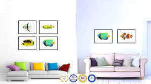 aqua tropical fish painting reion canvas print home decor wall art metal aqua gifts prints