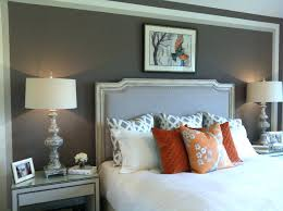 bedroom colors decor. Orange And Grey Decor Bedroom Room White Paint Colors