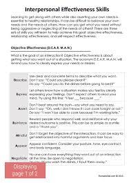 dbt interpersonal effectiveness skills worksheet  therapist aid dbt interpersonal effectiveness skills preview