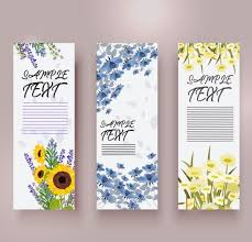 Spring Banner Templates Colorful Flowers Decoration Vertical