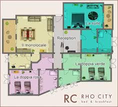 Le due strutture del bb rho city: camere e appartamento