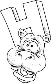 Hippopotamus 80 Animals Printable Coloring Pages