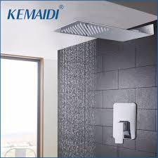 Us 670 45 Offbadewanne Regen Dusche Kopf Luxus Wand Montiert Platz Stil Messing Wasserfall Dusche Set Fabrik Direkt Neue Bad Dusche Tap In