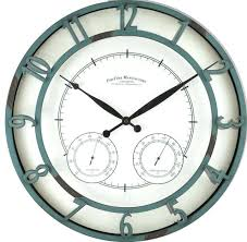outdoor wall clock outdoor wall clock indoor outdoor wall clock thermometer