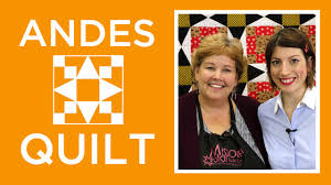 The Andes Quilt with Jenny and Mary Fons - YouTube &  Adamdwight.com